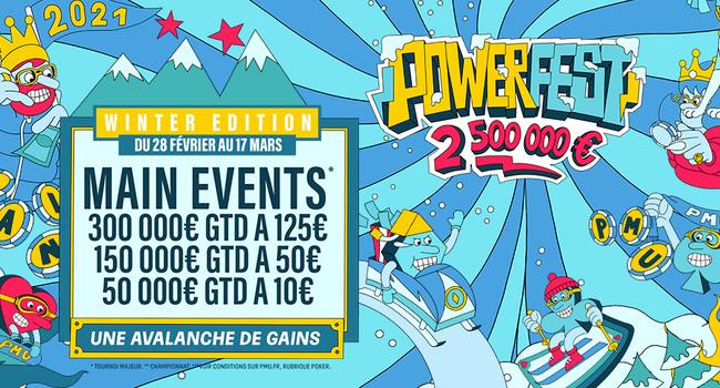 Top départ pour les Powerfest Winter Edition sur PMU.fr
